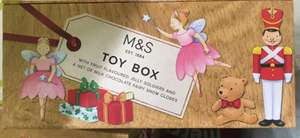 M&S Christmas Toy Box with chocolate & sweets 10p intsore