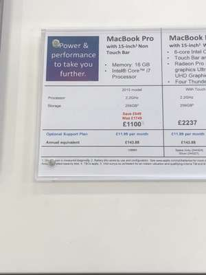 """Apple MacBook Pro 15"""" (2015 non Touch Bar) £1100 @ Currys Coventry Ricoh - Was £1749"""