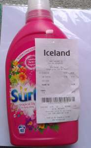 Surf liquid 40 Wash 'Tropical lily', 1.4L,  £2 in-store at Iceland