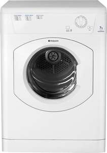 HOTPOINT Aquarius TVM570P 7kg Vented Tumble Dryer - White £143.99 delivered w/code @ Hotpoint Clearance