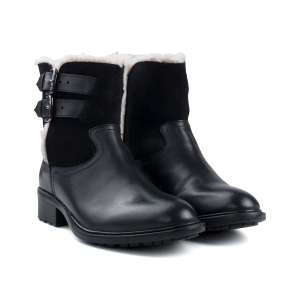 Real black leather and suede women's boots £24.99 @ Redfoot shoes