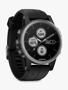 Garmin fēnix 5S Plus GPS Multisport Watch Silver + FREE Jaybird Tarah Headphones (worth £89.99) - £449.99 @ John Lewis & Partners