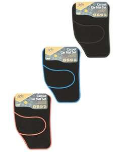 Universal Car Mats 4 piece, 5 Colours, Non Slip, Hardwearing heel pad - £4.99 @ ALDI