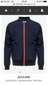 Jack & Jones Navy mens bomber jacket £15.99 delivered at Zalando lounge  (all sizes small to XL)