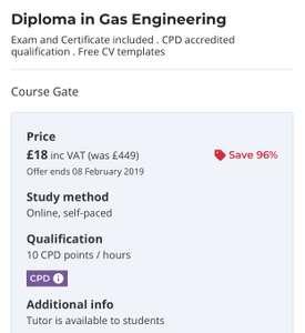 Diploma In Gas Engineering £18 @ Reed
