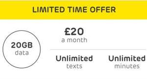 EE Student offer- 20gb for £16/12months with unidays student discount + unlmtd calls/texts