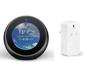 Amazon echo spot with smart plug!! £64.99 curry's direct follow link!