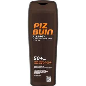 Piz Buin Allergy Lotion SPF 50+ 200ml  £4.99 @ Home Bargains