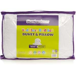 SLUMBERDOWN TODDLER BED SET DUVET AND PILLOW  £5 instore @ Asda Watford