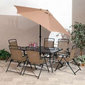 8 Piece Kent Memphis Steel Dining Set @ Gardens And Homes Direct £149.99 Delivered