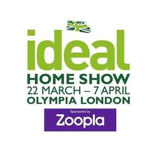2x Free Tickets for the Ideal Home Show (in London) 2019 via Zoopla