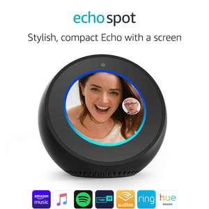 Amazon Echo Spot, Smart Alarm Clock with Alexa for £94.99 on Amazon