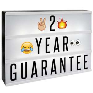 A4 Lightbox with 205 Letters & Emoji £6.99 delivered with code @ Shop4World