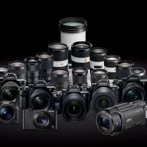 Sony Summer Cashback 2019 up to £200 for Cameras, Camcorders, Lenses and Accessories