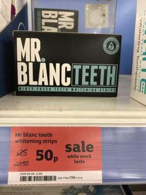 Mr Blanc Teeth whitening strips - 50p instore @ Sainsbury's Harrogate