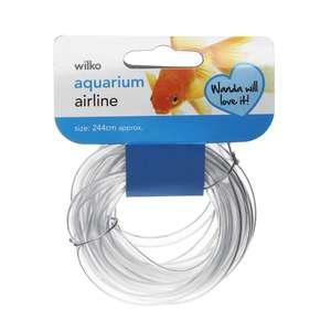 Wilko Aquarium Airline Tubing 244cm  50p @ Wilko free C&C