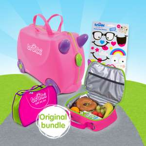 Trunki Flash Sale! 20% Off with Code + Free Delivery on ALL Orders - eg Pink or Blue Bundle worth £61+ now £32
