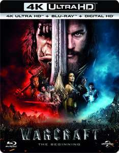 Warcraft: The Beginning 4K UHD + Blu-ray + Digital Download £9.99 (Prime) / £12.98 (non Prime) @ amazon.co.uk sold by amazon