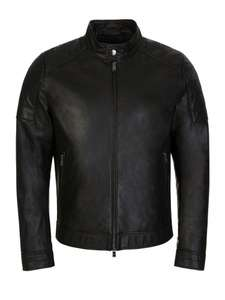 BOSS Black Leather Jacket £172.50 + £4.50 postage @ Zee & Co