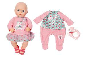 My First Baby Annabell Doll (36cm) + Extra Outfit & Rattle £9.99 Delivered with code @ Bargainmax