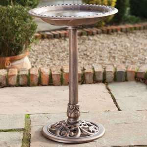 RSPB Bronze effect bird bath, reduced to £13.59 + £3.95 P&P (free P&P over £75) at the RSPB Shop