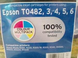 Multipack colour compatible epson printer cartridges T0482 50p @ Sainsburys Hendon