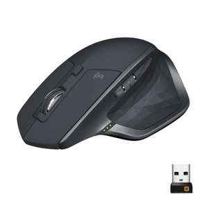 Logitech MX Master 2S Multi-Device Bluetooth Wireless Mouse with USB Unifying Receiver+Rechargeable Battery  Graphite for £47.99 @ Amazon UK