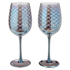 Mermaid Wine Glasses Set of 2 @ George Free C&C £4