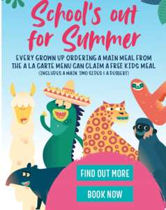 Kids Eat Free @ Las Iguanas (includes a main, two sides & a dessert) With each grown up ordering a main meal.