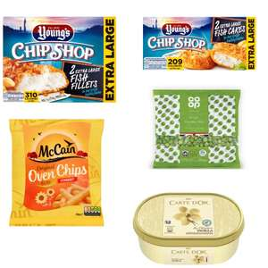 Co-op Frozen meal deal - £5 (Young's 2 extra large fish fillets, Young's Fish cakes, McCain oven chips, Co-op peas and Carte D'or ice cream)
