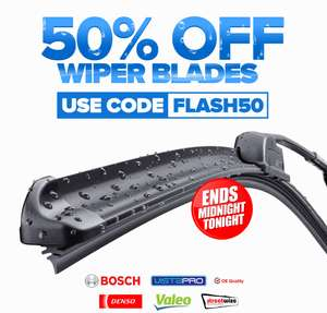 50% off all wiper blades (i.e Bosch Super Plus now £5.99) @ EuroCarParts