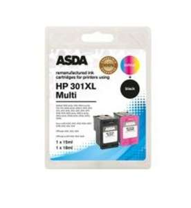 HP 301XL Twin Pack Ink Cartridge - £15 @ Asda (Free C&C)