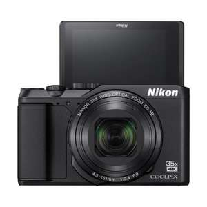 "Nikon COOLPIX A900 Digital Camera, 20.3MP, 4K Ultra HD, 35x Optical Zoom, Wi-Fi, Bluetooth & 3"" LCD Tiltable Screen, Silver Or Black"