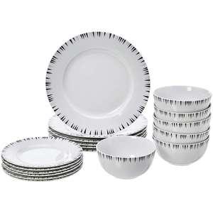 Amazon Basics 18-Piece Dinnerware Set Service for 6 @ Amazon £17.91 Prime £22.40 Non Prime