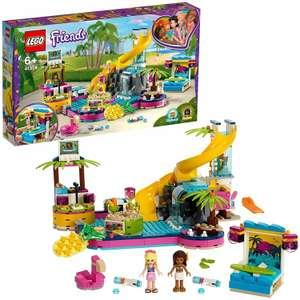 LEGO 41374 Friends Andrea's Pool Party Set with Andrea and Stephanie Mini-Dolls, DJ Box, Aquarium and Fish - £30 @ Amazon