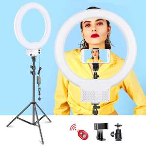 Neewer 18-inch White LED Ring Light with Light Stand £35 using code by Logicam UK and Fulfilled by Amazon