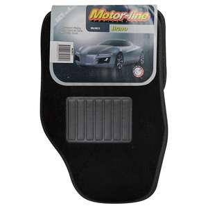Motor-Line Bravo Universal Carpet Car Mat set of 4 (with driver side heel pad) £4.01 Delivered @ Eurocarparts