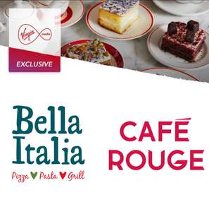 Free Coffee and Cake for Virgin Customers @  Bella Italia or Cafe Rouge via Virgin Red App