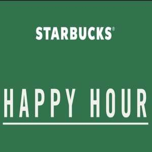 Happy Hour at Starbucks, buy one get one free from 2pm-7pm with app