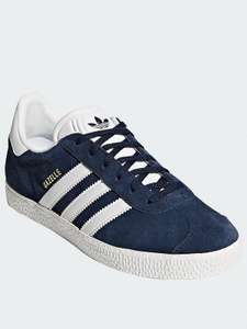Adidas Gazelle Navy/White junior Trainers £26 @ Very