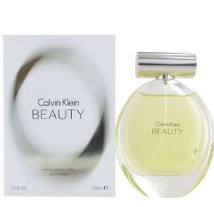 Calvin Klein Beauty EDP 100ml £24.25 or £21.82 (if you sign up for Newsletter) Delivered at Perfume Plus Direct