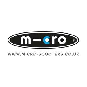 £10 off £100 / £20 off £150 at Microscooters and valid on clearance/outlet offers