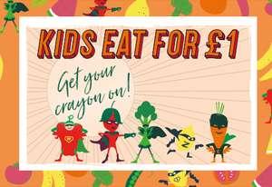 Kids eat for £1 @ Prezzo