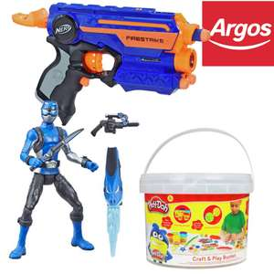 20% off Nerf (Including NERF Fortnite), Play-Doh and Power Rangers Toys + stacks with 2 for £15 / 2 for £30 / 25% off offers @ Argos