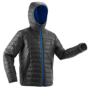 Quechua Mh500 Kids' Hiking Padded Jacket (Blue or Pink Trim) now £9.99 with Free Click & Collect @ Decathlon
