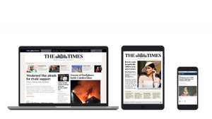 £3 for 3 months digital subscription to The Times and Sunday Times