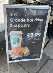 Coffee and pastry for £2.99 at Starbucks Coffee Plymouth