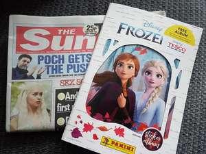 FREE Frozen 2 sticker album with the sun newspaper 55p @ coop on sat 23/11