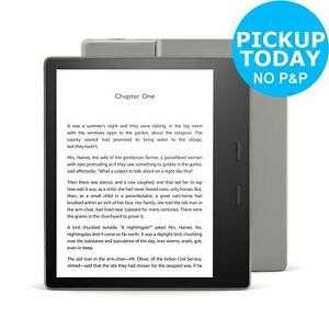 Amazon Kindle Oasis 7 Inch 8GB Wi-Fi & Cellular E-Reader Argos on ebay, adjustable warm light, Waterproof at Argos Ebay £170.99