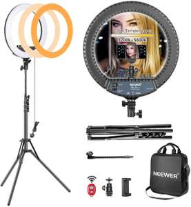 Neewer 14-inch Outer Dimmable LED Ring Light Kit with tripod for £35.69 delivered @ Amazon / Nashes Cam Space
